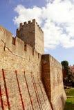 Historisk Lissabon slott Arkivbilder