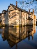 Historisk mangårdsbyggnad på ett engelskt landsgods Arkivbilder