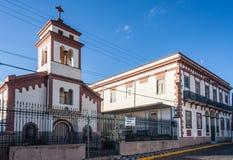 Historisk Market Place byggnad i Amparo Arkivfoto