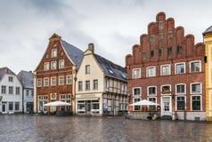 Historisk marknadsfyrkant, Warendorf, Tyskland royaltyfri bild