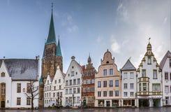 Historisk marknadsfyrkant, Warendorf, Tyskland fotografering för bildbyråer