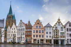 Historisk marknadsfyrkant, Warendorf, Tyskland royaltyfria foton
