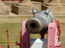 Historisk medeltida kanon arkivfoton