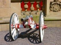 Historisk medeltida kanon fotografering för bildbyråer