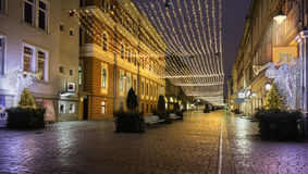 Historisk medeltida stad av Brasov, Transylvania, Rumänien Januari 6th, 2016 Royaltyfri Fotografi