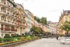 Historisk medicinsk brunnsortloppdestination, Tjeckien, Europa Arkivfoto