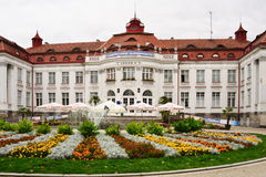 Historisk medicinsk brunnsortloppdestination, Tjeckien, Europa Arkivfoton