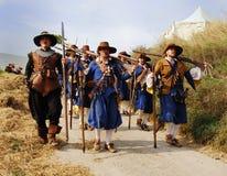 historisk militär för festival Royaltyfri Bild