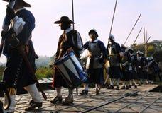historisk militär för festival Royaltyfri Foto