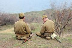 Historisk militär klubba Arkivfoton