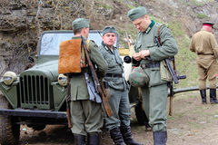 Historisk militär klubba Arkivbild