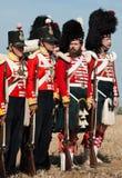 Historisk militär likformig av den brittiska armén Royaltyfri Fotografi