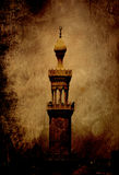 Historisk minaret i Kairo, Egypten Arkivbilder