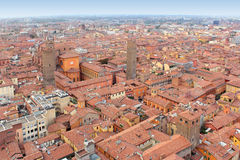 Historisk mitt av bolognaen, Italien Fotografering för Bildbyråer