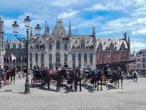 Historisk mitt av Brugge Fotografering för Bildbyråer