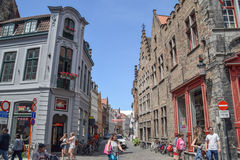 Historisk mitt av Brugge Arkivfoton
