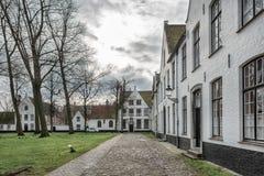 Historisk mitt av Brugge, Belgien Arkivfoton