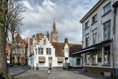 Historisk mitt av Brugge, Belgien Royaltyfri Fotografi