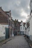Historisk mitt av Brugge, Belgien Arkivfoto