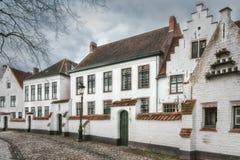 Historisk mitt av Brugge, Belgien Arkivbilder