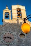 Historisk mitt av den kroatiska staden av Sibenik Arkivbilder