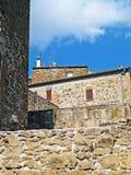 Historisk mitt av Pitigliano, tuffstaden, Tusc royaltyfria foton