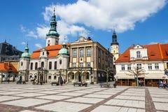 Historisk mitt av Pszczyna i den Silesia regionen, Polen Royaltyfri Fotografi