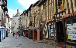Historisk mitt av Rennes - Frankrike Fotografering för Bildbyråer