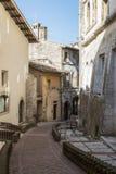 Historisk mitt av Spoleto Arkivbild