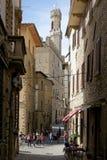 Historisk mitt av Volterra, Tuscany, Italien Arkivbild
