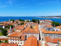 Historisk mitt i Zadar arkivbild