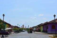 Historisk mitt och domkyrkan av Granada, Nicaragua arkivfoto