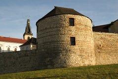 Historisk mittstad Louny Arkivfoto