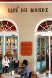 historisk monde New Orleans för cafedu Arkivfoto