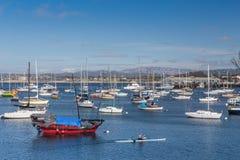 Historisk Monterey hamn och marina Royaltyfria Foton