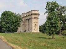 Historisk monumentcolonnade Reistna Arkivfoto