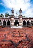 Historisk moské, Masjid Jamek på Kuala Lumpur, Malaysia Arkivfoton