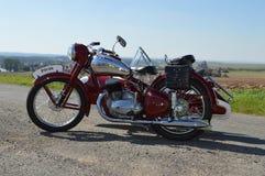 historisk motorcykel Arkivfoto