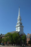 Historisk norr kyrka av Portsmouth i nya Hempshi Royaltyfri Foto