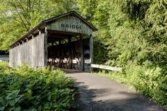 Historisk och återställd Teegarden täckt bro - Ohio Arkivfoton