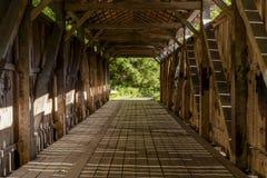 Historisk och återställd Teegarden täckt bro - Ohio Arkivfoto