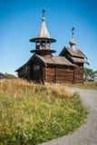 Historisk och arkitektonisk museum för klockstapel, i Kizhi, Karelia Royaltyfria Bilder