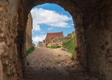 Historisk och medeltida fästning av Rasnov Arkivbilder