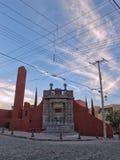 Historisk offentlig vattenspringbrunn i San Miguel de Allende, Guanajuato, Mexico Fotografering för Bildbyråer