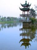 historisk pagoda shanghai Royaltyfri Fotografi