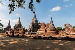 historisk park för ayutthaya fotografering för bildbyråer
