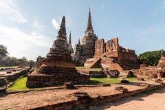 historisk park för ayutthaya arkivfoton