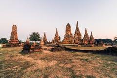historisk park för ayutthaya arkivbild