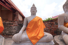 historisk park för ayutthaya thailand Arkivbilder