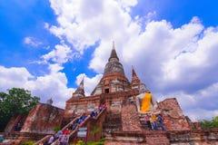 historisk park för ayutthaya thailand Arkivfoton